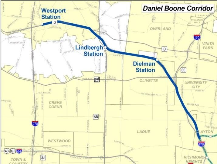 St Louis County to study 3 potential routes for MetroLink expan