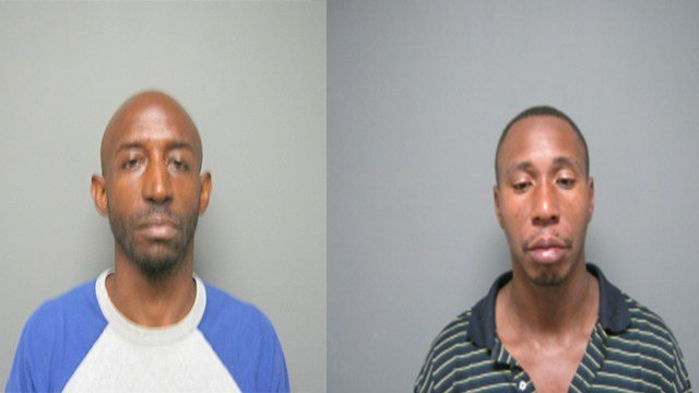 Danny Julian (left) and Randy Robinson( right) along with two other suspects (not pictured) are being charged with stealing over $3,000 worth of merchandise from Macy's. (Credit: Fairview Heights Police Department)