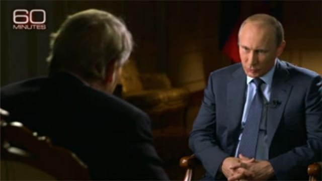 CBS' Charlie Rose interviewed Russian President Vladimir Putin for '60 Minutes' [Credit: 60 Minutes)