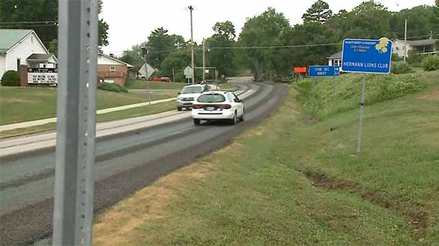 The number of cars damaged by a resurfacing project on Highway 100 that started Wednesday near Hermannis expected to top 100. Credit: KMOV