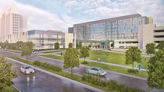 The $550 million project is expected to open in September 2020. (Credit: SSM Health St. Louis University)