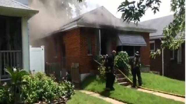 The St. Louis Fire Department is on the scene of a fire that broke out in south St. Louis Thursday afternoon. (Credit: St. Louis Fire Department)