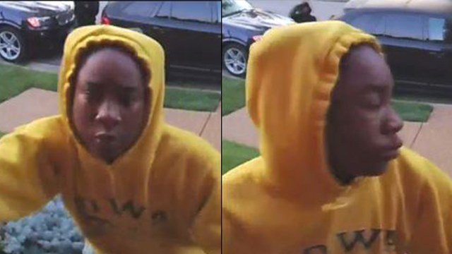 "Police are on the lookout for suspects in a gun ""flourishing"", including this suspect in a yellow, hooded sweater. (Credit: St. Louis Metro PD)"