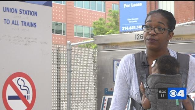 Angela Davis says she was attacked at MetroLink stop. (Credit: KMOV)