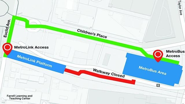 Map of the area that will be closed to Metro riders (Credit: Metro)